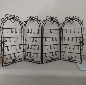 Black Folding Earring rack